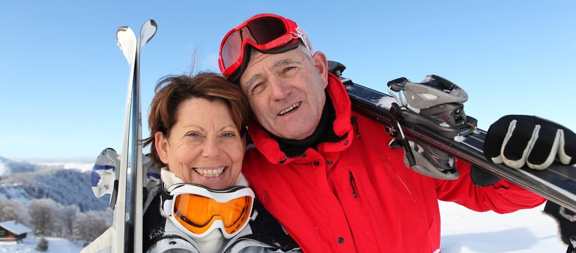 Par i skidbacken